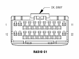 chrysler car radio stereo audio wiring diagram autoradio connector