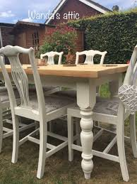 shabby chic farmhouse table hand painted shabby chic farmhouse table and 6 chairs in guildford