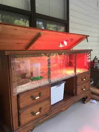 chicken brooder made out of an old dresser i had stored in the