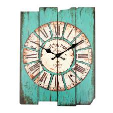 Large Shabby Chic Wall Clock by Zakka Vintage Rustic Wooden Wall Clock Shabby Home Room Cafe Bar