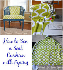 Covering A Seat Cushion How To Sew A Seat Cushion With Piping Whats Ur Home Story