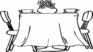 Dining Room Table Clipart Black And White Table Coloring Page Coloring Home