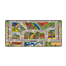 learning carpets giant road kids play rug