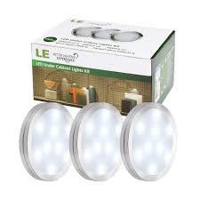 super bright led under cabinet lighting le led under cabinet lighting kit 510lm puck lights under