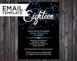 18th birthday invite etsy