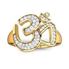 diamond rings round diamond yellow gold 18k om maheshwara diamond ring