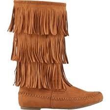 womens casual boots size 11 trading co s ansley casual boots calf brown fringe