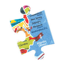Map Puzzle Usa by Map Of The U S A Jumbo Puzzle Mudpuppy