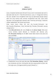 membuat query tabel cara buat aplikasi jualan pulsa sederhana menggunakan microsoft access