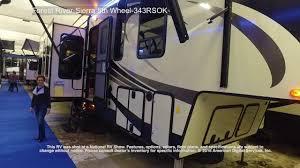 sierra rv floor plans forest river sierra 5th wheel 343rsok youtube