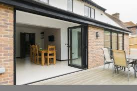 Framing Patio Door White Framed Bi Fold Patio Door With Mirrored Glass