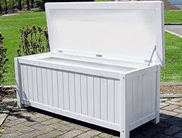 Wood Outdoor Storage Bench White Storage Bench Hinge Assembly Required Marine Quality