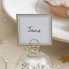 Placecards 6 Bauble Place Card Holders Or 10 Place Cards Christmas Table