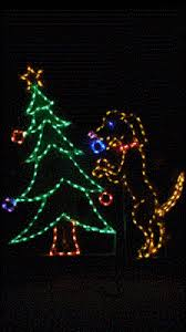 Lighted Dog Christmas Outdoor Decoration by Christmas Lights Collection On Ebay