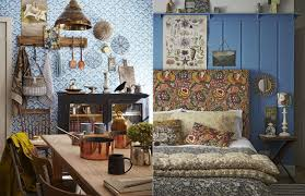 Design Styles Blue Bohemian Interior Design With Vintage Style