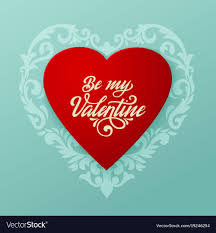 big valentines day happy valentines day card big heart royalty free vector