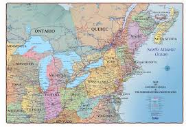 map of ne usa and canada map northeast us and canada map east usa and canada 13