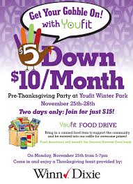 youfit partners with winn dixie to offer thanksgiving feast and