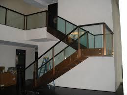 glass stair railings interior u2014 railing stairs and kitchen design