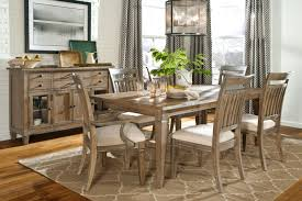 rustic farmhouse table gray fabric chairs on rug furniture stylish
