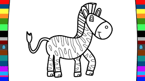 animal coloring pages how to draw a zebra drawing and coloring