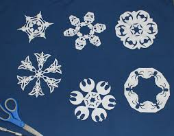 cation designs geeky star wars and lotr snowflakes