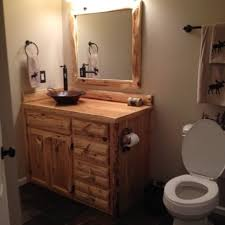 Custom Made Bathroom Vanity Custom Rustic Cedar Bathroom Vanity By King Of The Forest