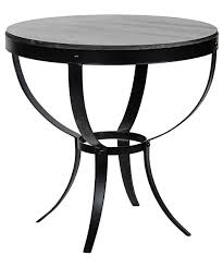 Outdoor Metal Side Table Noir Byron Side Table With Metal Stone Top Furniture Tables