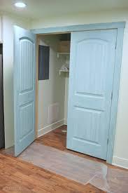 Laundry Closet Door Milk Painted Laundry Closet Doors The Happy Scraps