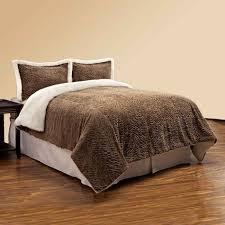 Faux Fur Duvet Cover Queen Northcrest Textured Brown Faux Fur Comforter Set Shopko