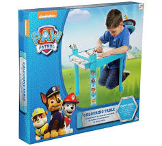 buy paw patrol colouring table argos uk shop