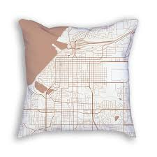 Alaska City Map by Anchorage Alaska Throw Pillow U2013 City Map Art