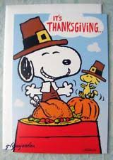 hallmark thanksgiving snoopy ebay