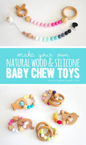 how to make natural wood u0026 silicone baby chew toys make it and