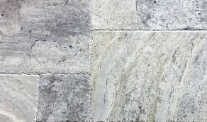 silver travertine versailles pattern brushed u0026 chiseled portland