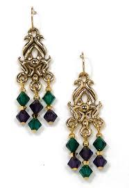 mardi gras earrings mardi gras chandelier earrings