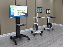 Movable Computer Desk Mobile Computer Carts Pc Cart Afcindustries Com