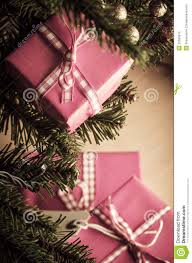 christmas gifts in pink wrapping stock photography image 33508612