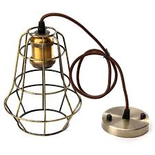 wire cage pendant light new vintage retro edison pendant light bulb iron guard wire cage