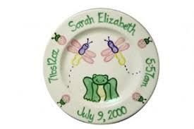 birth plates the pink poppy online children ceramics birth plate