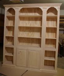 Mission Style Bookcase Unfinished Mission Bookcase Thesecretconsul Com