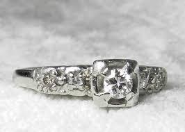 vintage ladies diamond rings wedding promise diamond