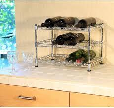 12 bottle floor wine rack holder storage stand kitchen bar