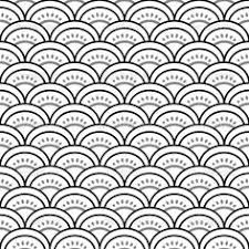japanese pattern black and white japanischer stoff matsuba blau shops abs and products
