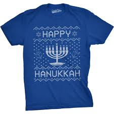 cheap menorah mens happy hanukkah menorah sweater t shirt