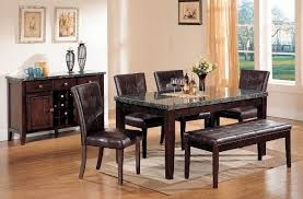 Kitchen Table Sets With Bench Marble Dining Table With Bench Insurserviceonline Com