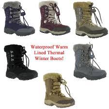 womens thermal boots uk hi tec st moritz waterproof thermal warm fur boots womens