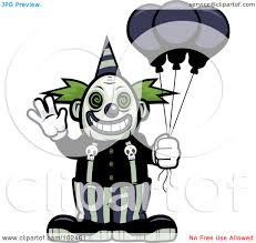 coloring pages of scary clowns cartoon clipart of a black and white evil clown face with a party