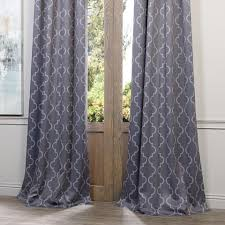Steel Grey Curtains 108 Inch Grey Moroccan Curtains Panel Pair Set Steel Gray Color