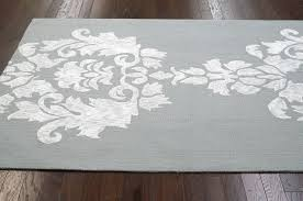 Damask Rugs Contemporary Lt Grey Cotton U0026 Wool Damask Vst25 Area Rug Carpet